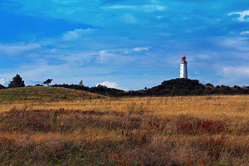 Hiddensee, Lighthouse, Island, Tower, Rügen, Coast