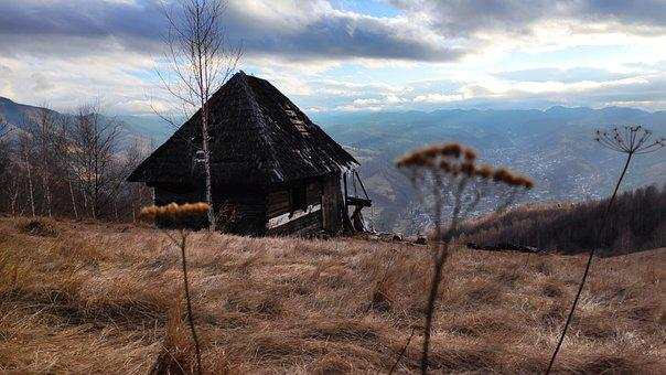 Mountains, Cabin, House, Peace, Quiet, Deserted