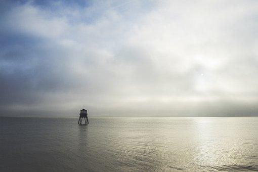 Harwich, Dovercourt, Lighthouse, England, Sea, Ocean