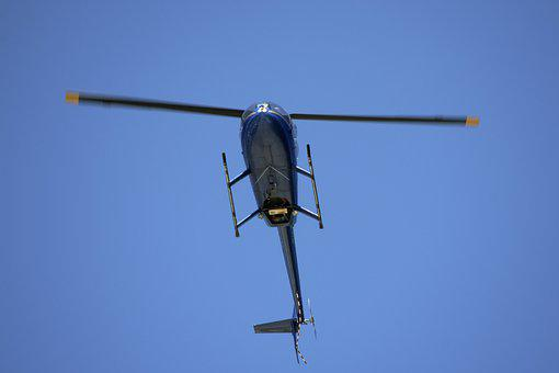 Small Helicopter, Flying, Over Head, Rotors, Whirlybird