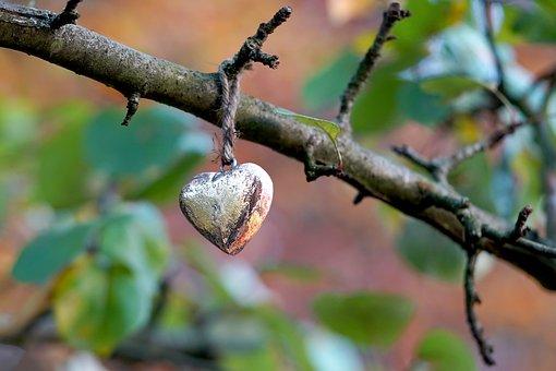 Heart, Heart Pendant, Deco, Golden, Decoration