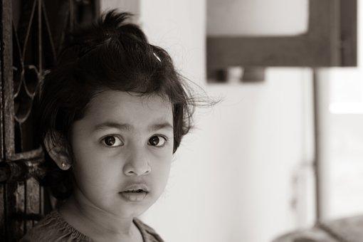 Little Girl, Surprised Girl, Girl, People, Childhood