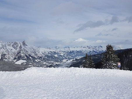 Snow, Austria, Mountains, Alpine, Winter, Ski