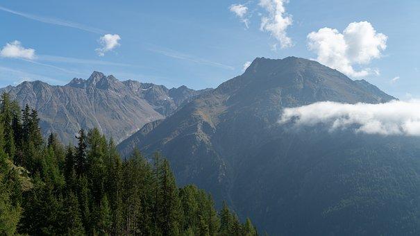 Austria, ötztal, Alpine, Mountains, Tyrol, Nature