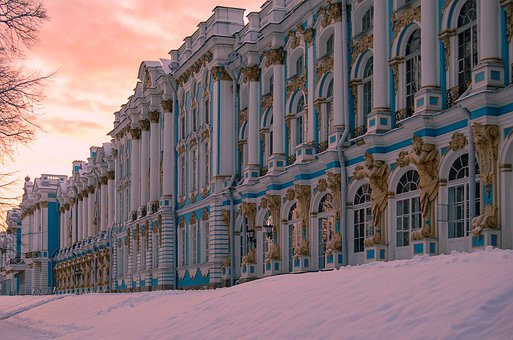Catherine's Palace, Russia, St Petersburg, Palace