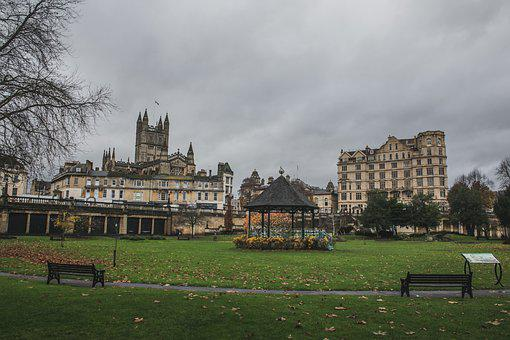 Bath Abbey, Abbey, Park, Nature, Parade Gardens, Garden