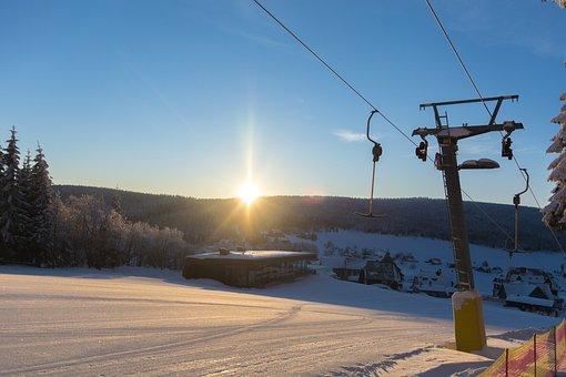 Ski Slope, Winter, Mountains, Skiing, Snow, Landscape