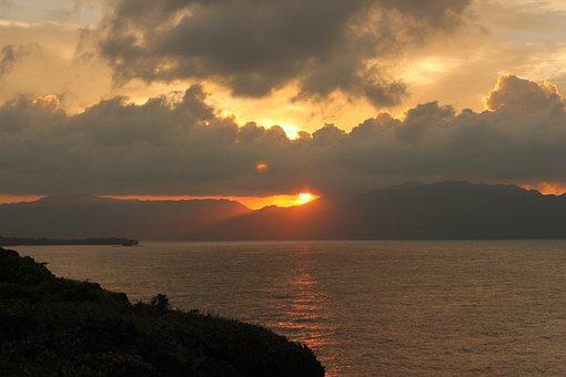 Sunset, Sky, Romantic, Abendstimmung, Sea, Nature