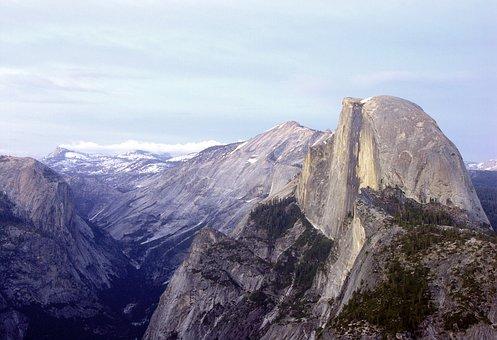 Dusk, Half Dome, Yosemite, Sunset, California, Half