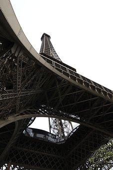 Tour Eiffel, Angle, Metal, Construction, Architecture