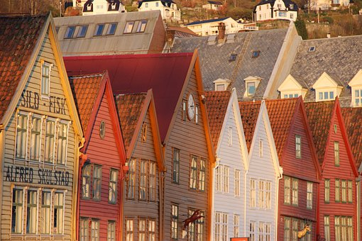 Bergen, Norway, Landscape, Europe, Architecture