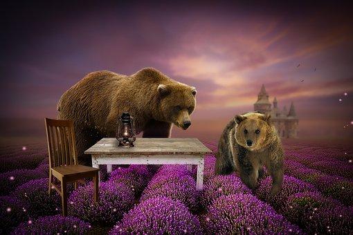Digital Background, Photo Editing, Bears, Bear, Lights