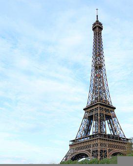 Eiffel Tower, France, Blue Sky, Paris, City