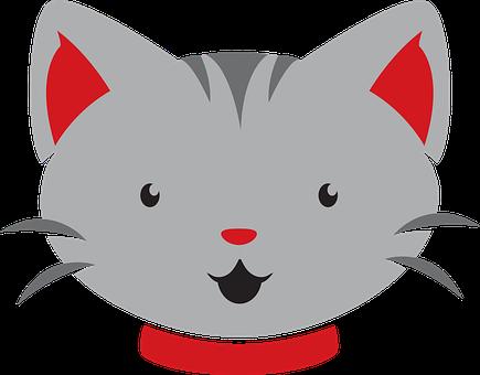 Cat, Simple, Pet, Kitten, Animal, Cute, Kitty, Cartoon