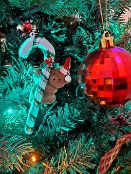 Christmas, Snowman, Tree, Decoration, Ornaments, Lights