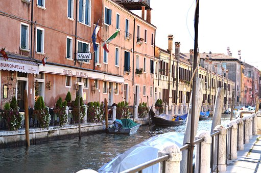 Venice, Gondola, City, Italy, Water, Architecture