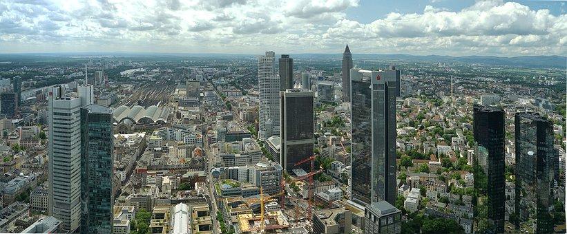 Frankfurt, City, Wolkenkratzer, Maintower, Mainhattan