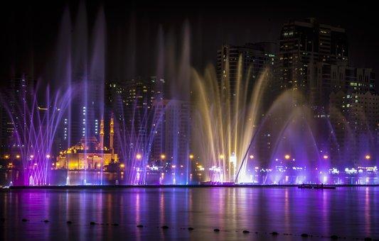 Sharjah, Sunset, Cityscape