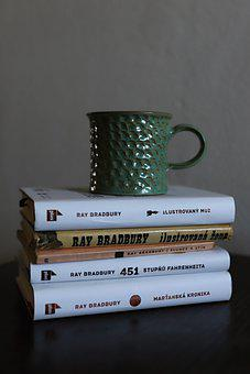 Ray Bradbury, Books, Collection Of Books, Cup, Enamel