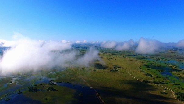 Okavango Delta, Botswana, Swamp, Aerial, Africa, Nature