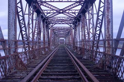Bridge, Train, Old, Railroad, Road, Steam Locomotive