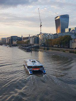 Thames, London, Boat, Boat On The Thames, River, City