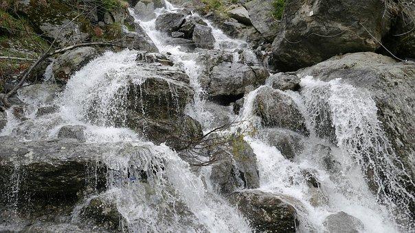River, Waterfall, Small Waterfall, Splash