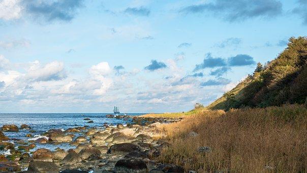 Baltic Sea, Ruegen Island, Coast, Landscape, Autumn