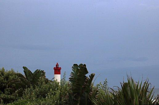 Umhlanga Rocks Lighthouse, Lighthouse, Tall, Beacon