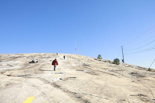 Walking On A Mountain, Blue Sky