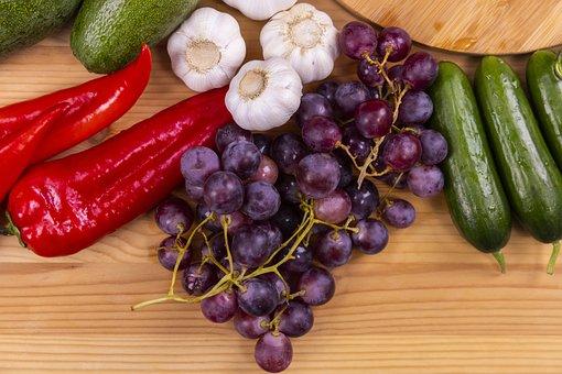 Vegetables, Fruits, Fresh, Produce, Harvest, Organic