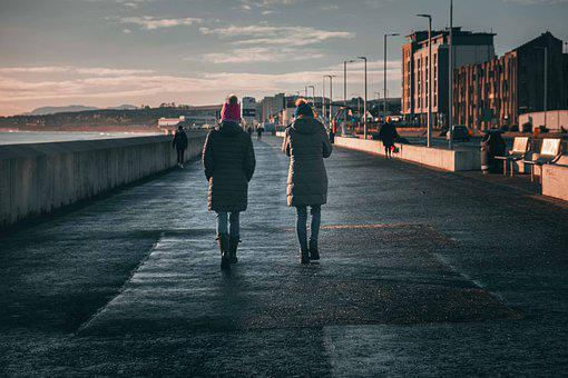 City, Town, Waterfront, People, Urban, Cityscape