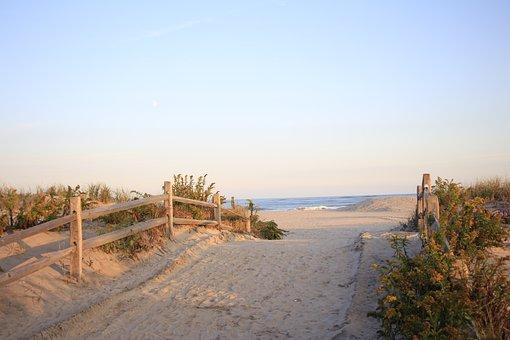 Evening, Sea, Ocean, Seascape, Waves, Sand, Dunes