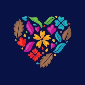 Love, Floral, Color, Romantic, Colorful