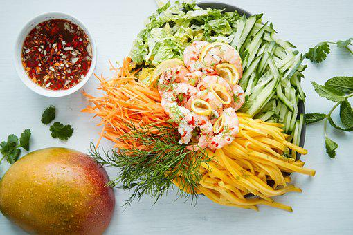 Salad, Food, Fruit, Fresh, Vitamin, Vegetables, Eat