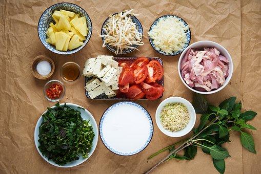 Ingredients, Cooking, Tomato, Meat, Kitchen, Garlic