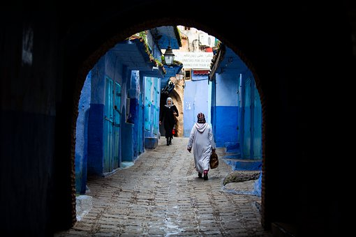 Morocco, Street, Authentic, Blue, Travel, History