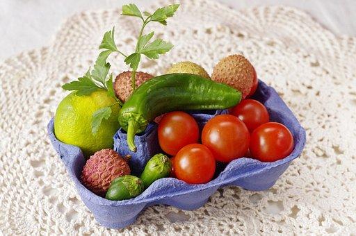 Tomaten, Lyches, Paprika, Food, Fruit