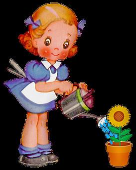 Retro Girl, Ephemera, Girl, Spring, Soda, Flower