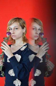 Portrait, Woman, Female Portrait, Flowers, View, Spring