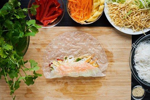 Summer, Roll, Vietnamese, Food, Cook, Healthy