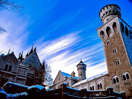 Castle, Building, Germany, Sky, Bavaria, Kristin