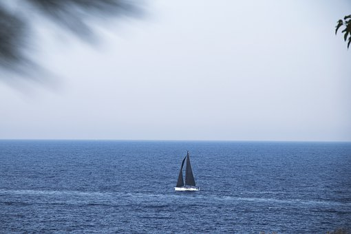 Boat, Sea, Travel, Landscapes, Nature, Calm, Sailboat