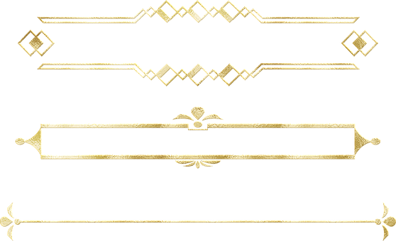 Gold Foil Dividers, Divider, Frame, Border, Arrow