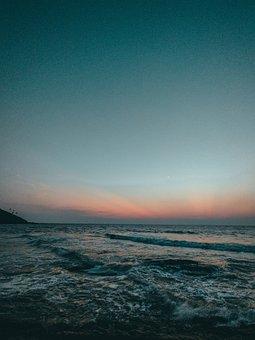 Beach, Goa, Weather, Sunset, Clouds