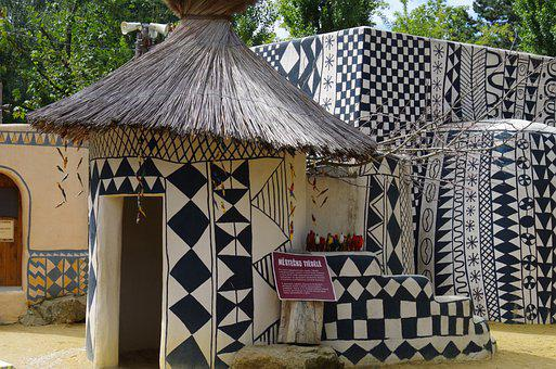 Africa, Abode, Drawings, Design, Shack, House