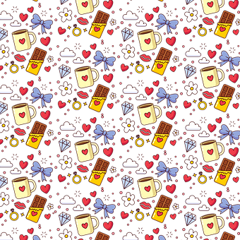 Chocolate, Valentine, Pattern, Wallpaper, Heart