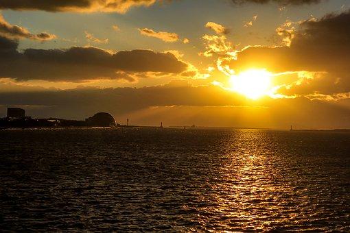 Sunset, Sea, Sky, Ocean, Horizon, Seascape, Sun, Dusk