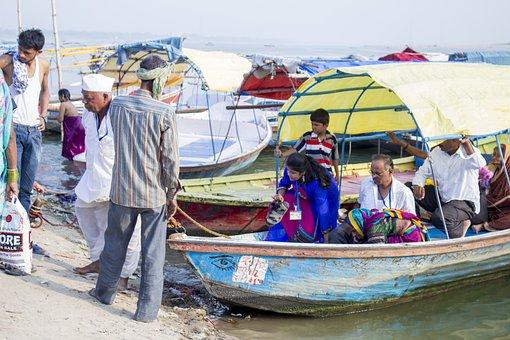 Ganges, India, Allahabad, Hindu, Hinduism, River