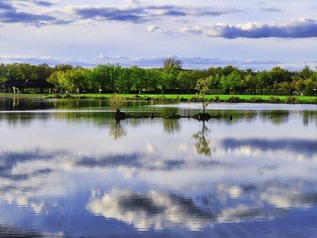 Cloud, Reflection, Clouds, Sky, Landscape, Nature